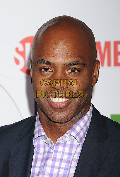 Kevin Frazier.arriving at the TCA Party for CBS, The CW and Showtime held at The Pagoda in Beverly Hills, California, USA,.August 3rd, 2011. .portrait headshot purple checked gingham shirt .CAP/ROT/TM.©TM/Roth Stock/Capital Pictures