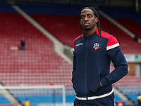 Bolton Wanderers' Clayton Donaldson inspecting the pitch before the match <br /> <br /> Photographer Andrew Kearns/CameraSport<br /> <br /> The EFL Sky Bet Championship - Wigan Athletic v Bolton Wanderers - Saturday 16th March 2019 - DW Stadium - Wigan<br /> <br /> World Copyright &copy; 2019 CameraSport. All rights reserved. 43 Linden Ave. Countesthorpe. Leicester. England. LE8 5PG - Tel: +44 (0) 116 277 4147 - admin@camerasport.com - www.camerasport.com