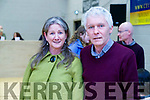 Cleo Murphy and Michael Fitzgerald at the General Election count in Killarney on Sunday.
