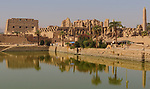 Temples of Karnak, view from Sacred Lake