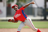 April 10, 2009:  Pitcher Walter Tejeda of the Philadelphia Phillies extended spring training team during an intrasquad scrimmage at Carpenter Complex in Clearwater, FL.  Photo by:  Mike Janes/Four Seam Images