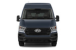 Car photography straight front view of a 2015 Hyundai H350 Travel Plus Pack 4 Door Cargo Van 2WD Front View