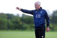 Mike Marsh, assistant first team coach for Swansea City in action during the Swansea City Training at Fairwood Training Ground in Swansea, Wales, UK.  Thursday 18 July 2019