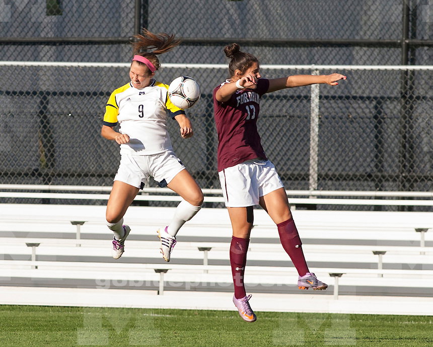 The University of Michigan women's soccer team beat Fordham University, 5-0, at the UM Soccer Stadium in Ann Arbor, Mich., on August 17, 2012.