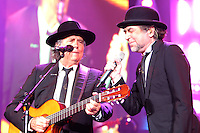 MIAMI, FL - NOVEMBER 16:  Joan Manuel Serrat and Joaquin Sabina in concert  at the American Airlines Arena in Miami, florida. November 16, 2012. Credit: Majo Grossi/MediaPunch Inc. NortePhoto