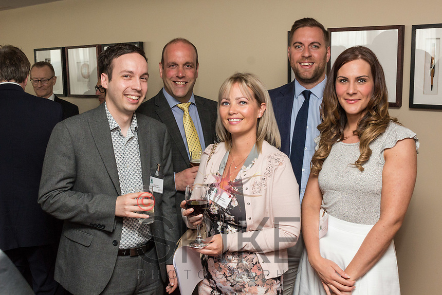 From left are Adam Cotterill, Jason Waghorne and Christina Yardley, all from Rothera Sharp, Chris Hanbury of St James Place and Masa Prastalo of Your HR Lawyer