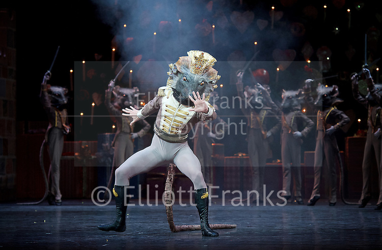 The Nutcracker<br /> <br /> Choreography by Peter Wright after Lev Ivanov<br /> Music by Tchaikovsky<br /> <br /> The Royal Ballet at the Royal Opera House, Covent Garden, London, Great Britain <br /> <br /> Pre-General Rehearsal <br /> <br /> 7 December 2015 <br /> <br /> Nicole Edmonds as Rat King <br /> <br /> <br /> Photograph by Elliott Franks <br /> Image licensed to Elliott Franks Photography Services