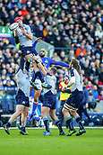 2nd February 2019, Murrayfield Stadium, Edinburgh, Scotland; Guinness Six Nations Rugby Championship, Scotland versus Italy; Grant Gilchrist of Scotland wins a line out