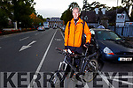 Malachy Kelly wants to hight the danger to cyclists on Denny Street due to the parking and obstructions.