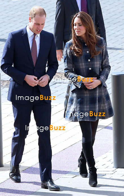 CATHERINE, DUCHESS OF CAMBRIDGE AND PRINCE WILLIAM.toured the Emirates Arena that will play host to several events at the 2014 Glasgow Commonwealth Games..April 4, 2013....