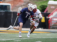 College Park, MD - May 13, 2018: Robert Morris Colonials Ryan Smith (1) in action during the NCAA first round game between Robert Morris and Maryland at  Capital One Field at Maryland Stadium in College Park, MD.  (Photo by Elliott Brown/Media Images International)