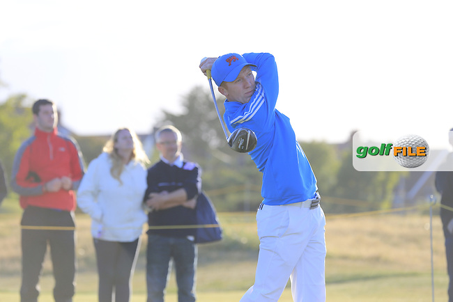 Gavin Moynihan (IRL) during the Saturday afternoon singles matches on for the Walker Cup, Royal Lytham St Annes, Lytham St Annes, Lancashire, England. 12/09/2015<br /> Picture Golffile | Fran Caffrey