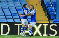 Kieran Lee of Sheffield Wednesday celebrates scoring with during the Sky Bet Championship match between Sheffield Wednesday and Nottingham Forest at Hillsborough, Sheffield, England on 9 September 2017. Photo by Leila Coker / PRiME Media Images.