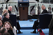 United States President Barack Obama (R) and U.S. Vice President Joe Biden sit during the presidential inauguration on the West Front of the U.S. Capitol January 21, 2013 in Washington, DC.   Barack Obama was re-elected for a second term as President of the United States.  \  .Credit: Win McNamee / Pool via CNP