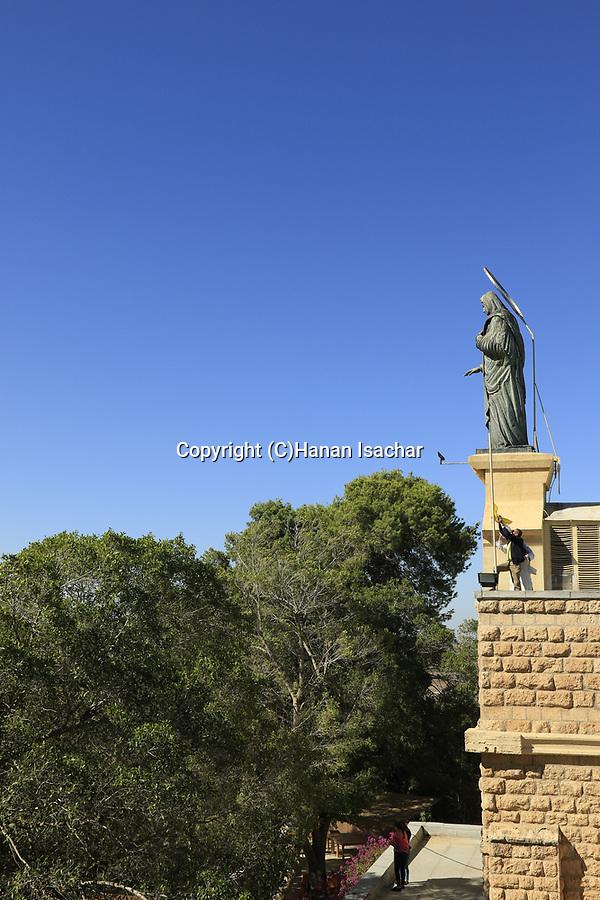 Israel, Shephelah, Statue of Our Lady of Palestine at Deir Rafat Monastery