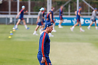 Simon Harmer of Essex walls back to start another sprint during Essex CCC Training at The Cloudfm County Ground on 22nd July 2020