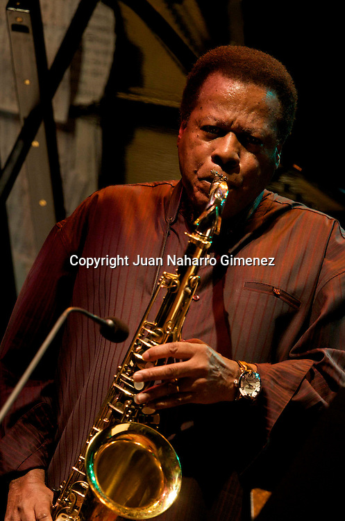 MADRID, SPAIN - NOVEMBER 02: Wayne Shorter performs in the XXVII Festival Jazz Madrid 2010 at Teatro Fernan Gomez on November 2, 2010 in Madrid, Spain. (Photo by Juan Naharro Gimenez)