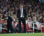 Chelsea's Antonio Conte looks on during the Premier League match at the Emirates Stadium, London. Picture date September 24th, 2016 Pic David Klein/Sportimage