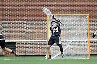 CHAPEL HILL, NC - MARCH 10: Luke Caracciolo #44 of Bryant University makes a save during a game between Bryant and North Carolina at Dorrance Field on March 10, 2020 in Chapel Hill, North Carolina.