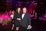 Breast Cancer Care Charity Fashion Show.<br /> Wales Millennium Centre.<br /> BBC Wales weather presenter Behnaz Akhgar with Wales rugby coach Warren Gatland.<br /> 05.03.14<br /> <br /> &copy;Steve Pope-FOTOWALES