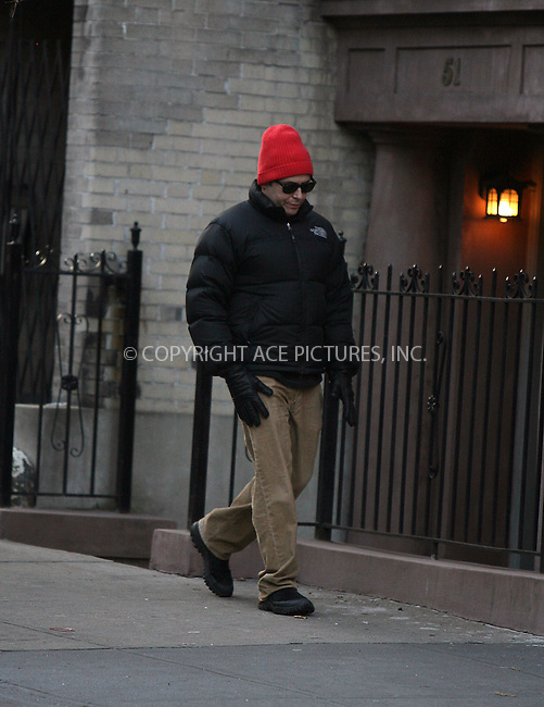 WWW.ACEPIXS.COM . . . . .  ....EXCLUSIVE - ALL ROUNDER....Actor Matthew Broderick walking in his West Village neighborhood on February 4 2010 in New York City....Please byline: PHILIP VAUGHAN - ACE PICTURES.... *** ***..Ace Pictures, Inc:  ..Philip Vaughan (212) 243-8787 or (646) 679 0430..e-mail: info@acepixs.com..web: http://www.acepixs.com