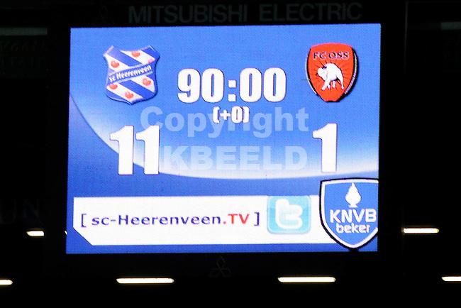 HEERENVEEN - Voetbal, SC Heerenveen - FC Oss, knvb beker,  Abe Lenstra stadion, seizoen 2011-2012, 21-12-2011