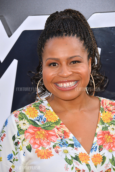 """Courtney A. Kemp at the Los Angeles premiere of """"BlacKkKlansman"""" at the Academy's Samuel Goldwyn Theatre, Beverly Hills, USA 08 Aug. 2018<br /> Picture: Paul Smith/Featureflash/SilverHub 0208 004 5359 sales@silverhubmedia.com"""