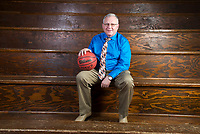 NWA Democrat-Gazette/CHARLIE KAIJO Division II Boys Coach of the Year Lendall Martin of Western Grove High School poses for a portrait, Thursday, March 15, 2018 at Springdale High School auxiliary gym in Springdale