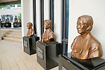 """The House of Sharing for Comfort Women, June 7, 2016 : Bust sculptures of the late South Korean comfort women are seen in the House of Sharing in Gwangju, Gyeonggi province, about 30 km (18 miles) southeast of Seoul, June 7, 2016. The House of Sharing is a shelter for living South Korean """"comfort women"""", who said they were forced to become sexual slavery by Japanese military during the Second World War. It was founded in 1992 with funds organized by Buddhists and other civic groups. The Museum of Sexual Slavery by Japanese Military locates in the shelter. (Photo by Lee Jae-Won/AFLO) (SOUTH KOREA)"""
