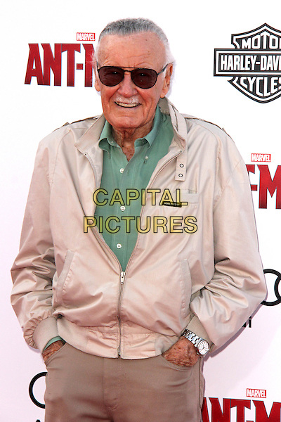 HOLLYWOOD, CA - JUNE 29: Stan Lee at the premiere of Marvel's 'Ant-Man' at the Dolby Theatre on June 29, 2015 in Hollywood, California. <br /> CAP/MPI/DC/DE<br /> &copy;DE/DC/MPI/Capital Pictures
