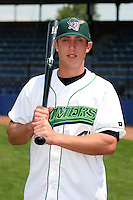 Jamestown Jammers John Raynor poses for a photo before a NY-Penn League game at Russell Diethrick Park on July 1, 2006 in Jamestown, New York.  (Mike Janes/Four Seam Images)