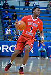 January 11, 2017:  Fresno State guard, Jaron Hopkins #1, in action during the NCAA basketball game between the Fresno State Bulldogs and the Air Force Academy Falcons, Clune Arena, U.S. Air Force Academy, Colorado Springs, Colorado.  Air Force defeats Fresno State 81-72.