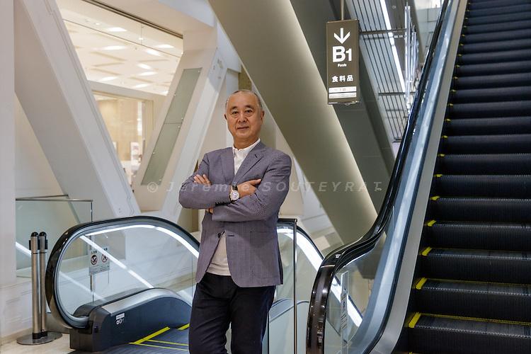 Tokyo, Japan, September 20 2016 - Portrait of  Japanese chef and restaurateur Nobu MATSUHISA at Takashimaya Nihonbashi department store.