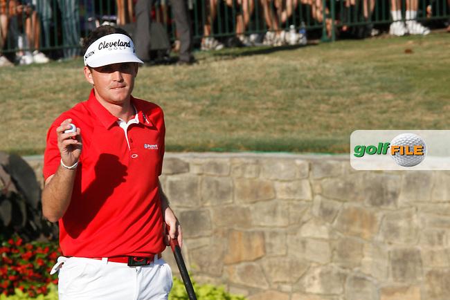 Keegan Bradley (USA) on the 18th on the final day of the 93rd PGA Championship, The Atlanta Athletic Club, Johns Creek, Atlanta Georgia 14/8/11.Picture Fran Caffrey www.golffile.ie