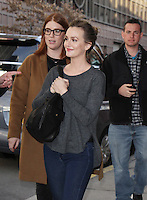 NEW YORK, NY February  22, 2017:Leighton Meester at Harry Show  to talk about her new Fox series Making History  in New York . February 22, 2017. Credit:RW/MediaPunch