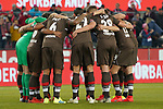 08.02.2019, RheinEnergieStadion, Koeln, GER, 2. FBL, 1.FC Koeln vs. FC St. Pauli,<br />  <br /> DFL regulations prohibit any use of photographs as image sequences and/or quasi-video<br /> <br /> im Bild / picture shows: <br /> Mannschaftskreis vor dem Spiel St. Pauli<br /> <br /> Foto © nordphoto / Meuter