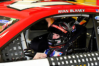 July 15, 2017 - Loudon, New Hampshire, U.S. - Ryan Blaney, Monster Energy NASCAR Cup Series driver of the Motorcraft / Quick Lane Tire & Auto Center Ford (21), sits in his car before the NASCAR Monster Energy Overton's 301 practice round held at the New Hampshire Motor Speedway in Loudon, New Hampshire. Larson placed first in the qualifier. Eric Canha/CSM