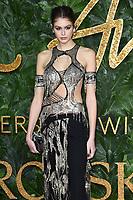 Kaia Gerber<br /> arriving for The Fashion Awards 2018 at the Royal Albert Hall, London<br /> <br /> ©Ash Knotek  D3466  10/12/2018