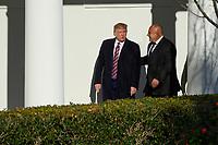 United States President Donald J. Trump welcomes Bulgarian Prime Minister Boyko Borissov to the White House. Credit: Erin Scott / CNP/AdMedia