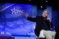 National Harbor, MD - February 23, 2017: White House chief strategist Steve Bannon participates in a discussion with white House Chief of Staff Reince Priebus during the Conservative Political Action Conference at the Gaylord Hotel in National Harbor, MD, February 23, 2017,   (Photo by Don Baxter/Media Images International)