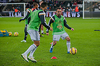 Sunday  14th   December 2014 <br /> Pictured: Leon Britton of Swansea City during pre match warm up <br /> Re: Barclays Premier League Swansea City v Tottenham Hotspur  at the Liberty Stadium, Swansea, Wales,UK
