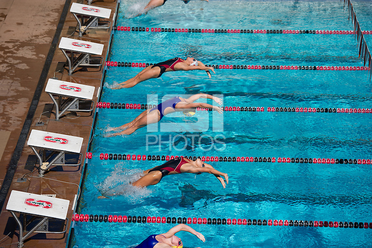 STANFORD, CA - October 1, 2010: Team during Stanford's first swim meet of the season, which took place against San Jose State University in Stanford, California. Stanford defeated San Jose State 187-100.