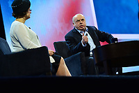 Washington, DC - March 5, 2018: Natan Sharansky, Chairman of the Jewish Agency of Israel, speaks during the 2018 American Israel Public Affairs Committee (AIPAC) Public Policy Conference at the Washington Convention Center March 5, 2018.  (Photo by Don Baxter/Media Images International)