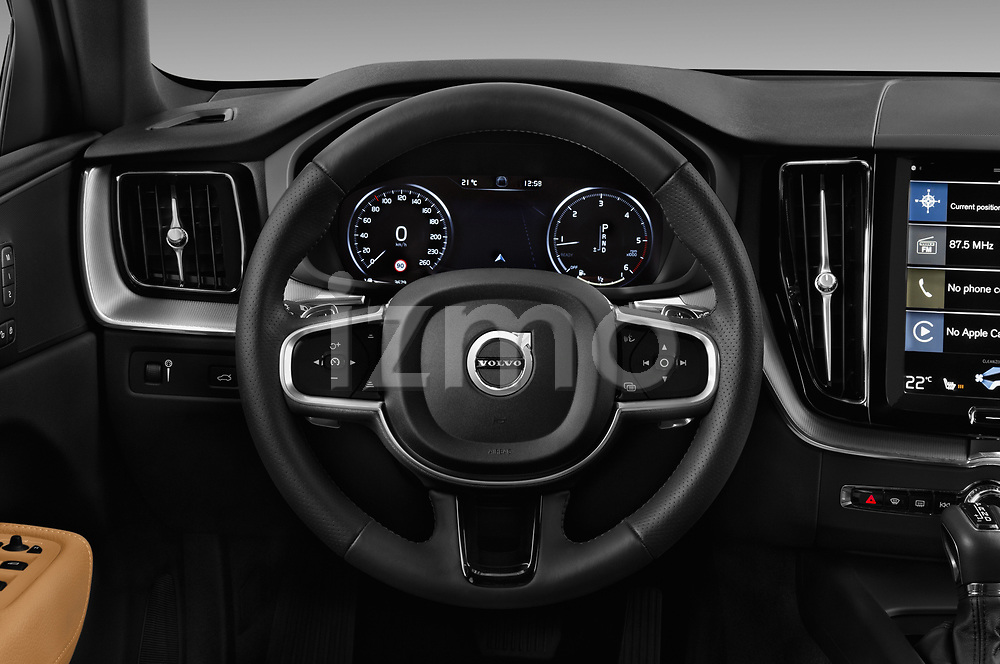 Car pictures of steering wheel view of a 2018 Volvo XC60 Inscription 5 Door SUV