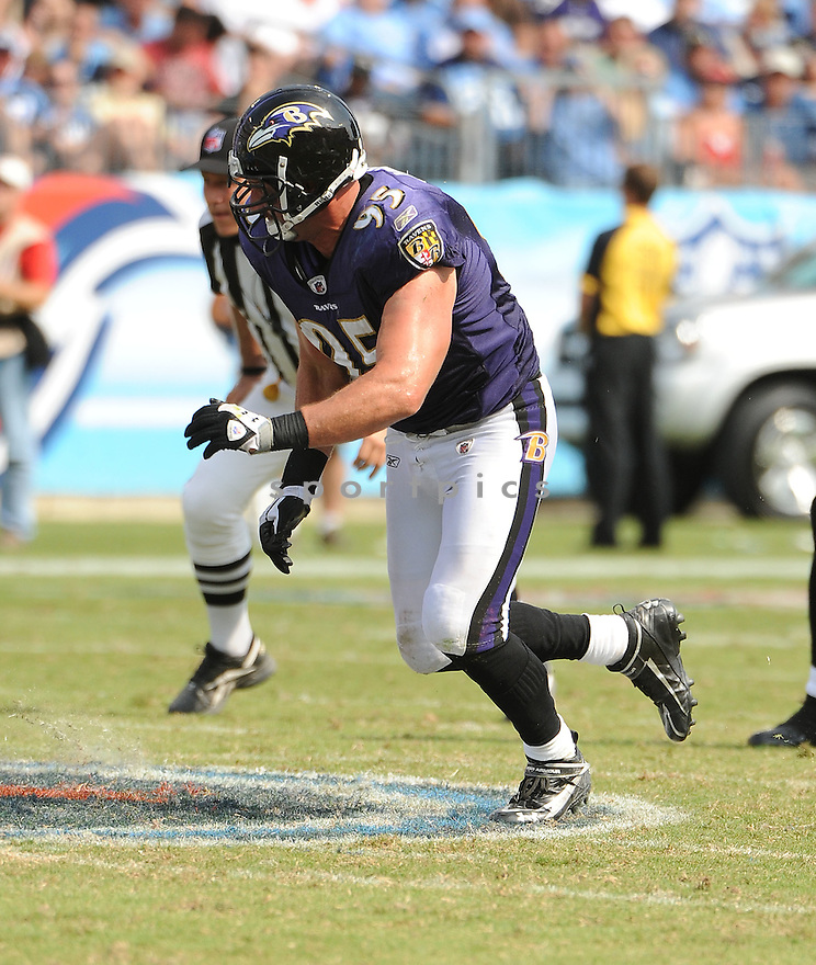 JARRET JOHNSON, of the Baltimore Ravens, in action, during the Ravens game against the Tennessee Titans on September 18, 2011 at LP Field in Nashville, TN. The Titans beat the Ravens 26-13.