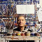 Milano 1994, Emilio Tadini nel suo studio,Emilio Tadini in his study.