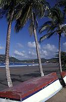 Beach scene in the resort town of San Juan del Sur, Nicaragua