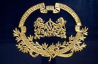 Venice Simplon-Orient-Express. The famous brass warew Wagons-Lits logo.