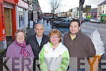 Christmas shopping in Castleisland From left: Marge Healy, Robert Templeman, Breda O'Donoghue and Gareth Lawless.