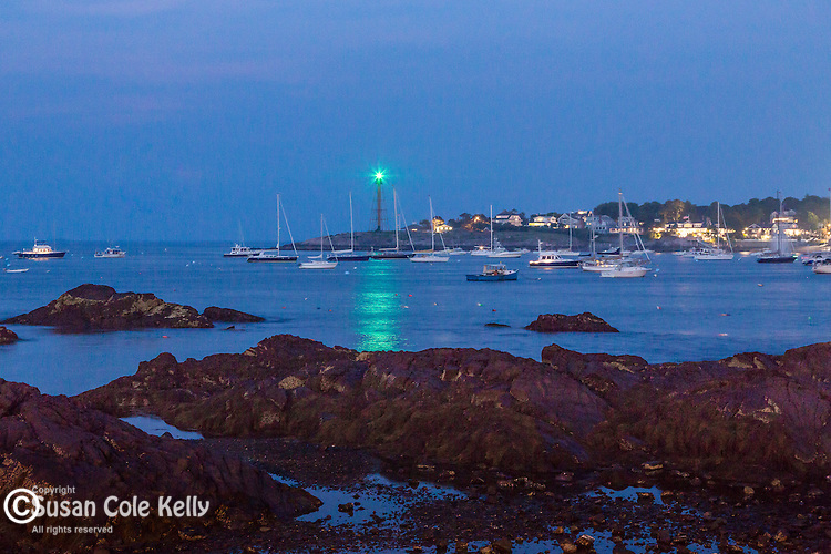 Evening over Marblehead Harbor in Marblehead, Massachusetts, USA